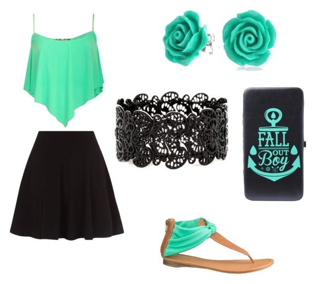 """neon summer set"" by anita-gyulai on Polyvore"