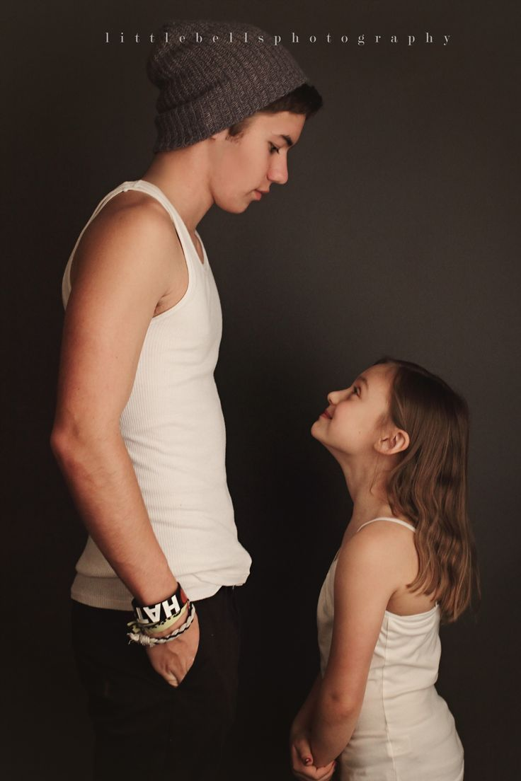 Image result for urban big brother looking down at little sister photo