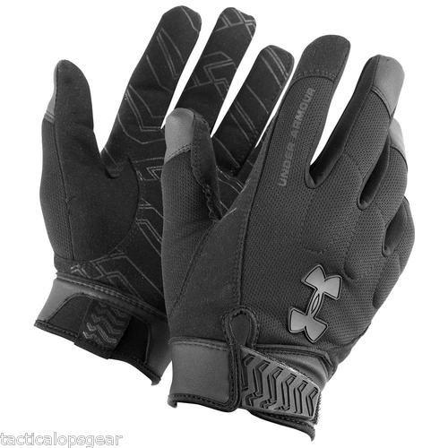 Under Armour Winter Tactical SWAT SF Blackout Coldgear Gloves Black 1227556