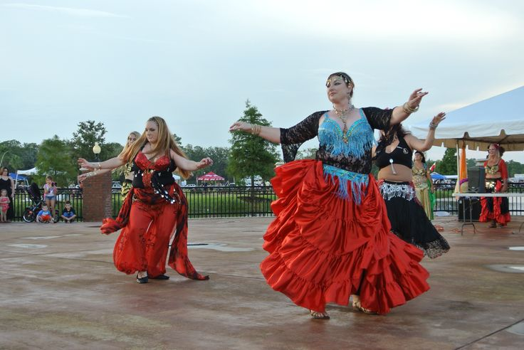 Enchanted Caravan Belly Dance Troupe performing at the 2013 Palm Coast International Food & Wine Festival.
