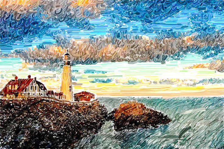 Van Gogh lighthouse