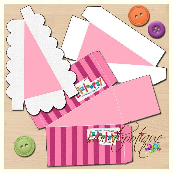 2 Piece Lalaloopsy Style Cake Slice Box  Cake Box by SweetBootique, $10.00