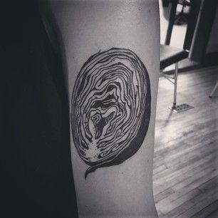 Cette demie-tête de chou.   36 idées de tatouages pour les gourmands