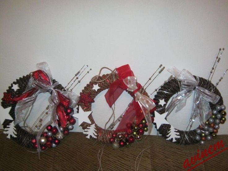 Vánoční věnečky 2014 - vlastní tvorba - avinem