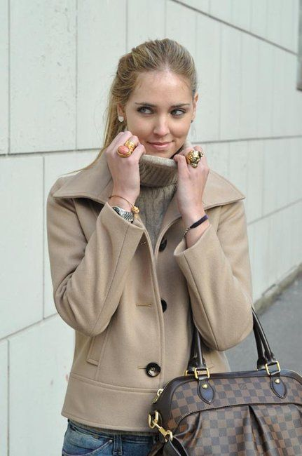 Camel-Colored Jacket and Accessories