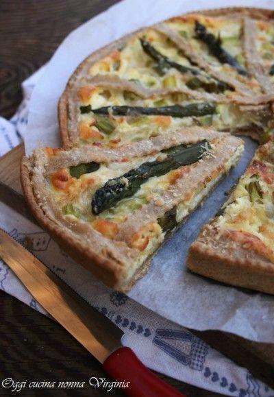 Crostata salata asparagi e ricotta,Oggi cucina nonna Virginia