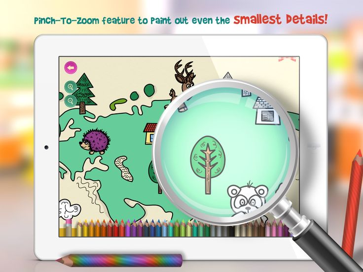 Terri's Coloring Pages Pinch to zoom feature introduced in our upcoming version 2.0 update for ONCEapps's colorin application for Kids! #iPad #kidapp #ONCE DIgital Arts