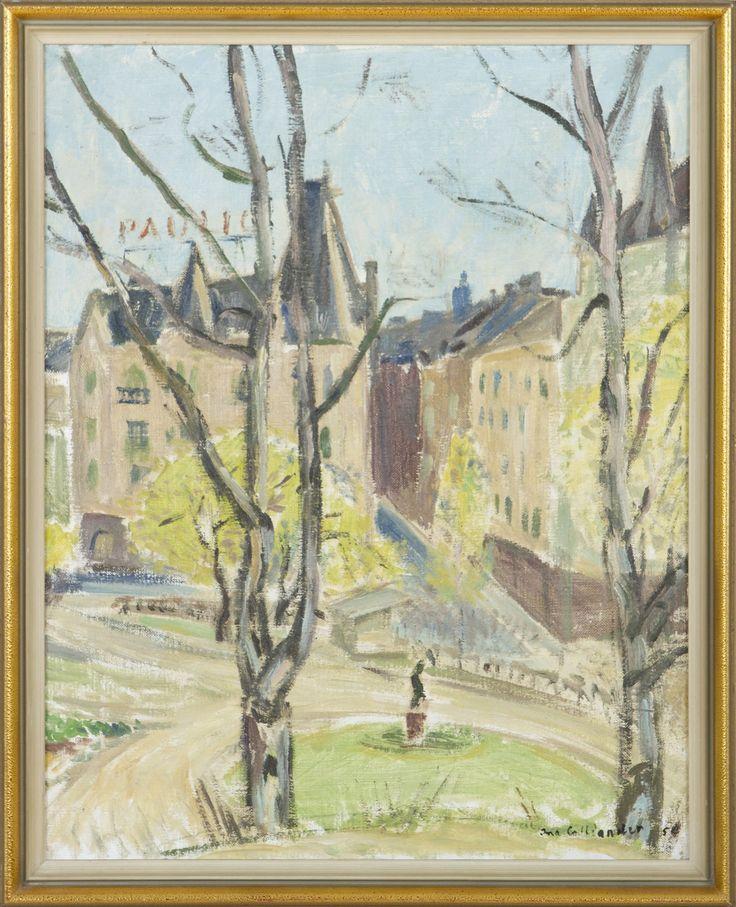 Ina Colliander: Katajanokalta, 1954, öljy, 46x36 cm - Hagelstam K135