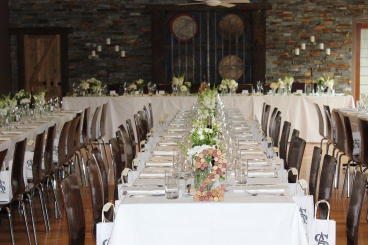 Wine cork table numbers - DIY wedding ideas.