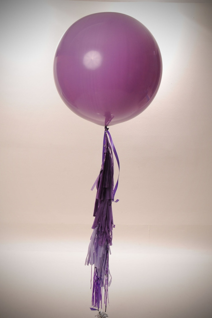 "36"" balloon with tassel garland - Stephanie Shives Studio"