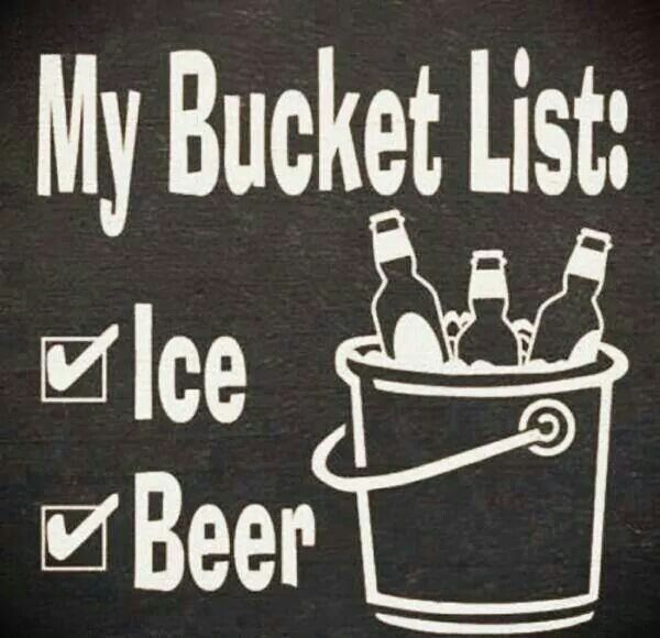 The simplest bucket list.
