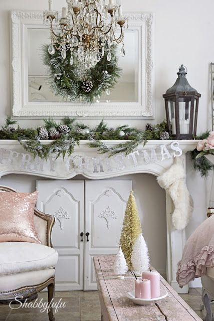easy ways to change christmas decor in a room french. Black Bedroom Furniture Sets. Home Design Ideas