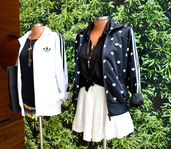 Jaqueta estampa de corações Farm - Adidas Originals