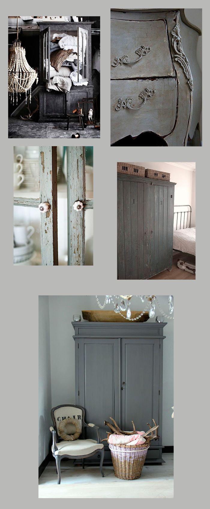 bilder härifrån Vill måla möbler i vackra grå nyanser.