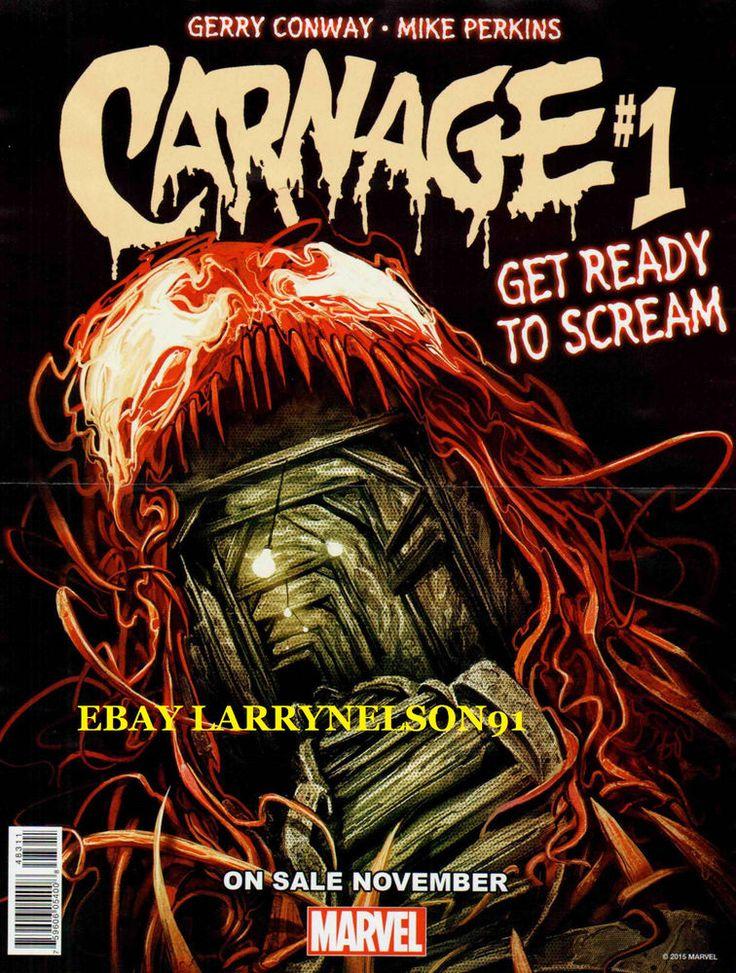 CARNAGE POSTER VISION BLACK KNIGHT HAWKEYE MARVEL VENOM SPIDER-MAN INFINITY GEM