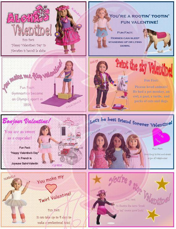 Die 59 besten Bilder zu AG Doll Valentines auf Pinterest – Girl Valentine Cards