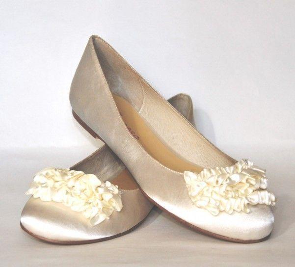 Scarpe da sposa color champagne