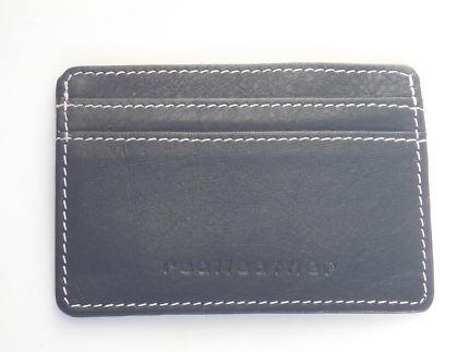 SUPER SLIM CARDCASE WALLET GENUINE NATURAL LEATHERMet card holder