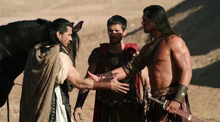 BOGUS FOREARM HANDSHAKE!  Even Hercules gets it wrong in the 2014 film Hercules Reborn. http://www.imdb.com/title/tt3499424/