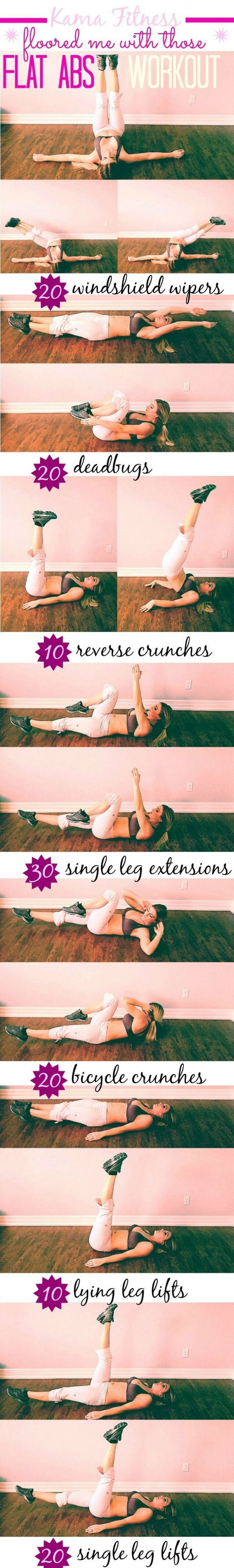 Get Flat Abs and a Toned Midsection with this floor moves designed to target your core. Losing weight fast is simple once you add this incredible tummy workout into your exercise and fitness program.