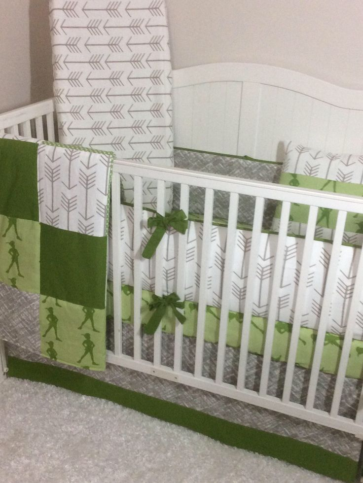 A personal favorite from my Etsy shop https://www.etsy.com/listing/532263883/baby-bedding-crib-set-green-and-khaki  Peter Pan Neverland themed baby bedding.