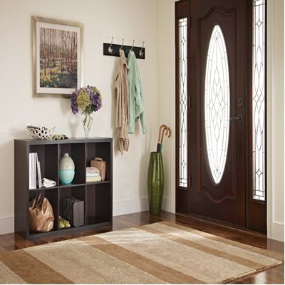Organize Entryways with Decorative Storage
