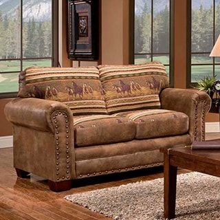 Wild Horses Lodge Loveseat | Overstock.com Shopping - The Best Deals on Sofas & Loveseats