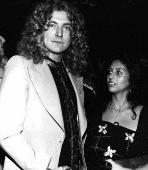 Robert Plant w/ his wife at the time, Maureen