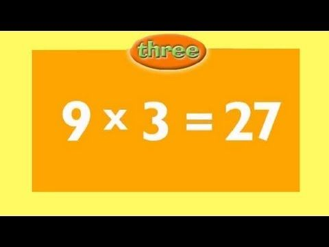 Multiply x 3 - Learn and remember your three times tables the fun and easy way, then test yourself with the random test. Accelerated learning occurs when we use our senses... see the numbers and answers come alive on screen and hear the times table rap! For more great videos for children be sure to follow us #multiplication #timestables #threetimestables