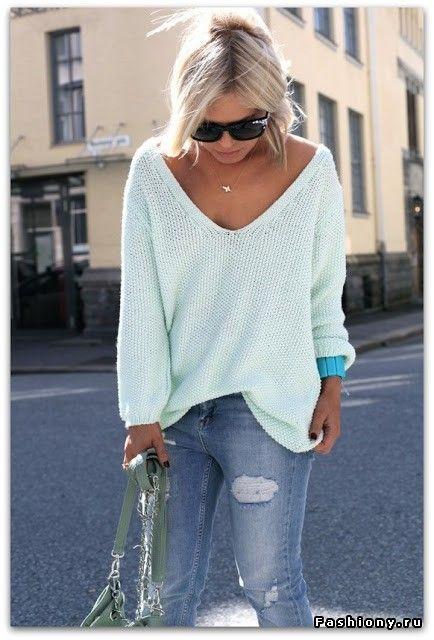 Свежие образы со свитерами oversize / укороченый свитер икожаная куртка короткая