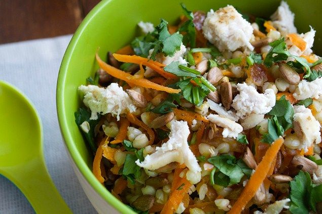 This Moroccan influenced salad introduces your little one to some interesting textures and flavours