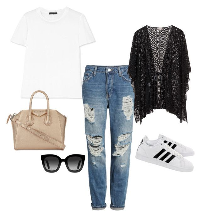Sin título #13 by vanessa-fuentes-salas on Polyvore featuring moda, The Row, Topshop, adidas, Givenchy and Gucci