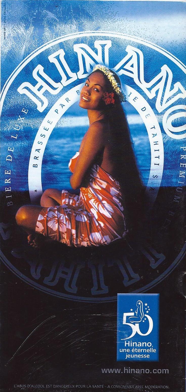 Tahiti Hinano beer advertising back of Air Tahiti Nui ticket Jacket