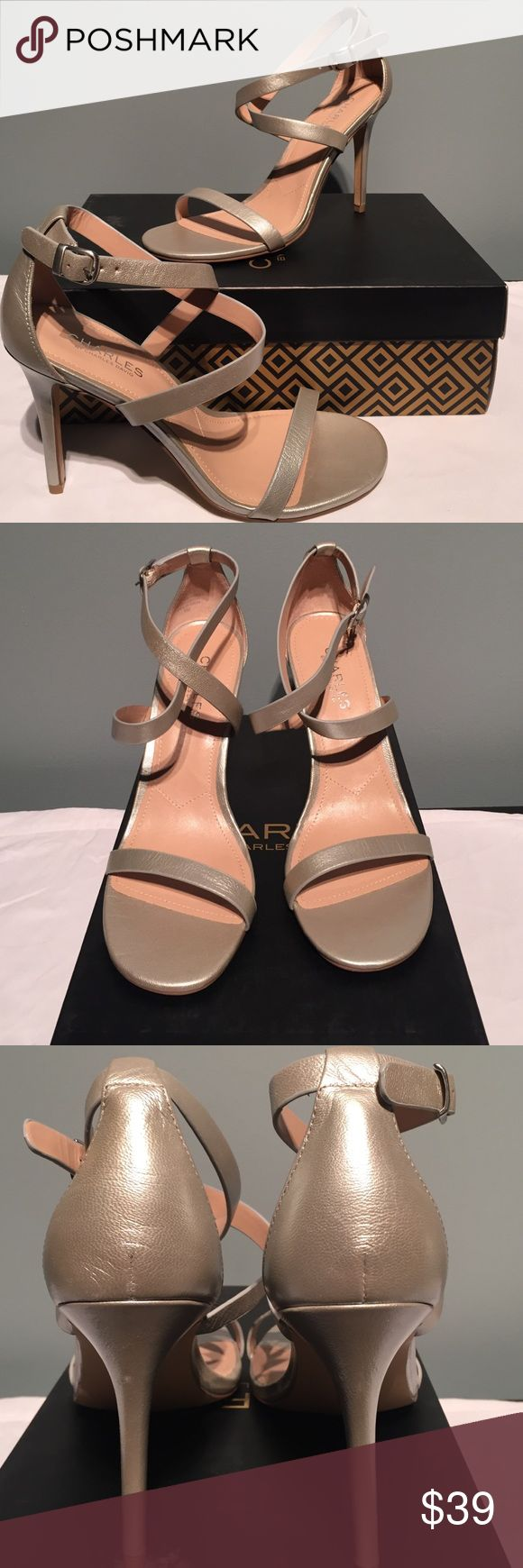 🎈NIB Charles by Charles David🎈 NIB Charles by Charles David silver metallic leather.  Heel is 4 inches.  Thanks for looking! Charles David Shoes Heels