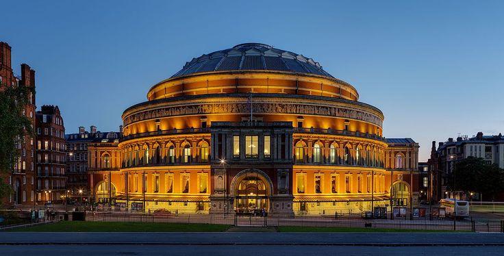 UK   The ROYAL ALBERT HALL, as viewed from the Albert Memorial in Kensington Gardens, London