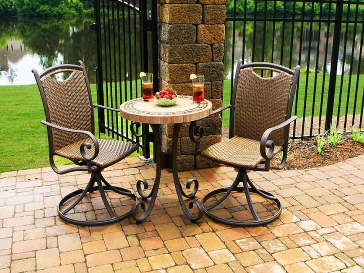 66 Best Images About Wicker Bistro Sets On Pinterest