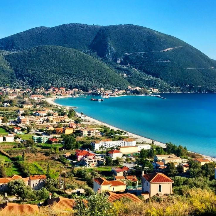 Vassiliki village in Lefkada