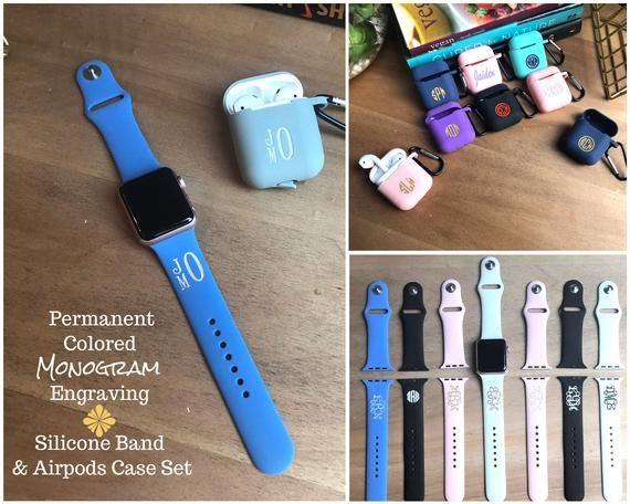 Silicone Apple Watch Band 38mm Monogram Apple Accessories Watch Etsymktgtool 38mm 42mm 40mm Applewa Apple Watch Bands Watch Bands 38mm Apple Watch Band