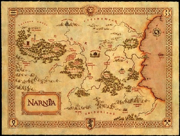 Kick up your Narnia-themed bash with these authentic-looking maps. It would be really neat to have framed maps of made up literary places in a book nook.