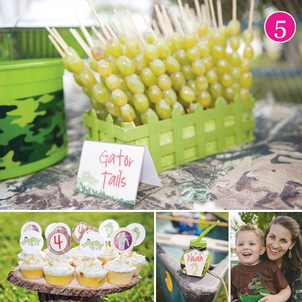 alligator birthday party ideas | Party of 5} Aviator Birthday, Woodland Baby Shower, First Communion ...