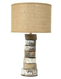 Reyes Horn Table Lamp  Transitional, Rustic  Folk, Natural Material, Table Lighting by Jayson Home