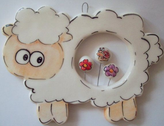 Ceramic sheep by eudoxiahandmade on Etsy, €6.73