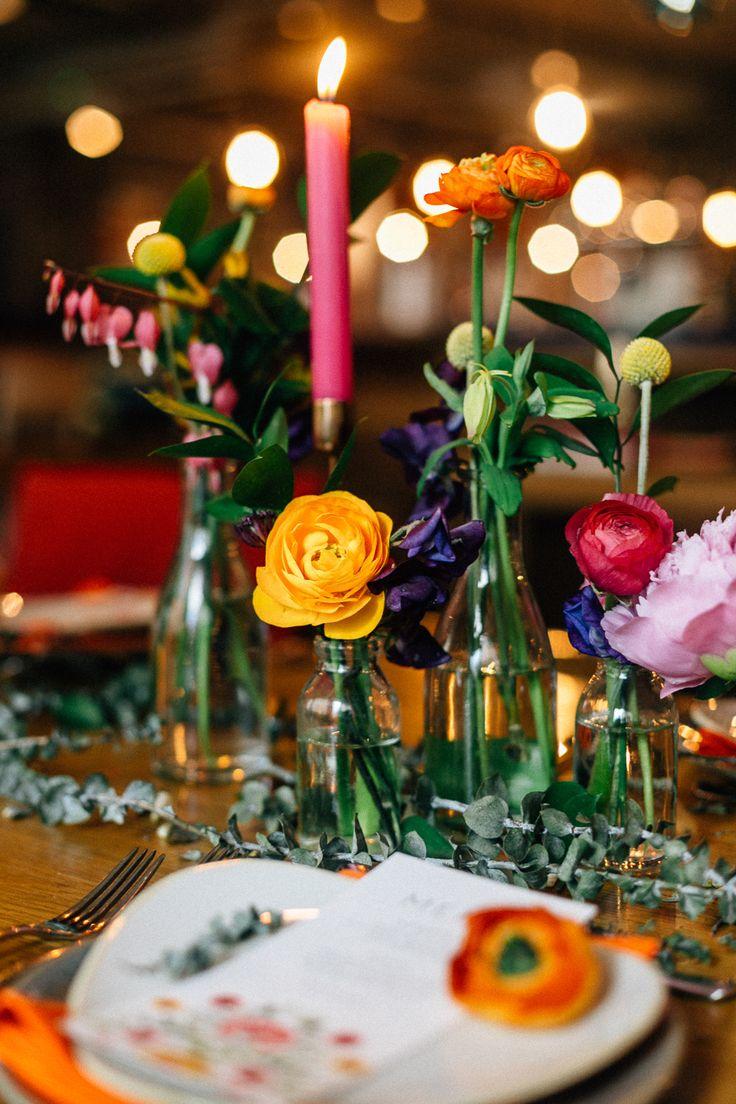 The Anthologist London   Bright & Modern Wedding Inspiration   Okishima & Simmonds Florist   Nulyweds Planning & Styling   Beatrici Photography   http://www.rockmywedding.co.uk/bright-colours-big-city/