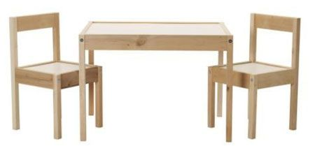 7. IKEA children's table and 2 chairs set
