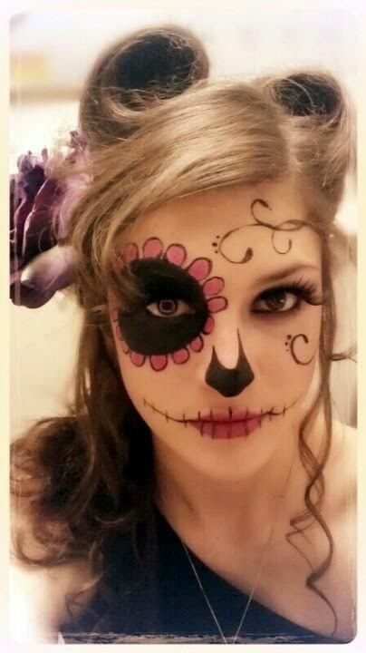 Pretty Day Of The Dead Young Woman