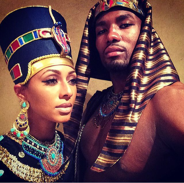 Halloween 2014- Keri Hilson And Serge Ibaka