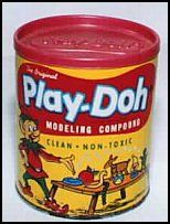 play-doh  I can still smell it. Our Sunday school would get huge tubs of this