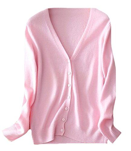 OULIU Women's Button Down V-Neck Soft Cashmere Cardigan Sweater Pink L   Special Offer: $11.13      300 Reviews Size:Please check your measurements to make sure the item fits before ordering.Choose larger sizes if your size are same as the flat measurement Size chart. Material:cotton...