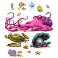 Cutout Props Sea Creatures Pkt13 $20.95 BE52075