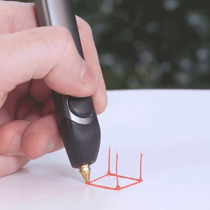 A doodler pen that creates 3-dimensional art off of a canvas.